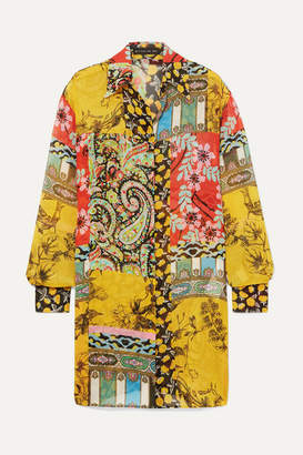 Etro Printed Silk-chiffon Tunic - Yellow