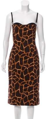 Dolce & Gabbana Animal Print Sleeveless Dress