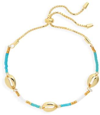 Argentovivo Seashell Charm Slider Bracelet