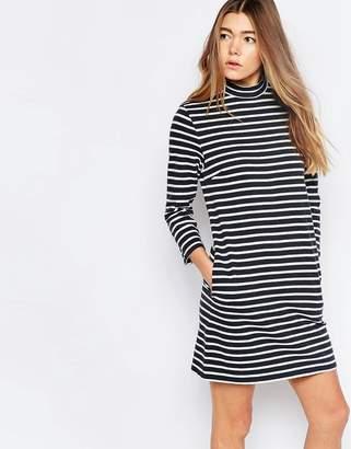 Wood Wood Mary Stripe Dress In Navy Stripe $126 thestylecure.com