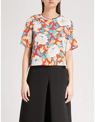 Diane von Furstenberg Printed silk-crepe top