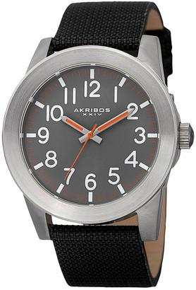 Akribos XXIV Men's Canvas Watch