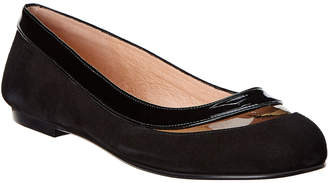French Sole Charisma Patent-Suede Flat