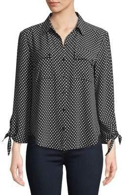 Jones New York Tie-Sleeve Button-Down Shirt