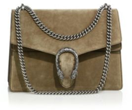 Gucci Dionysus Medium Suede Shoulder Bag $2,500 thestylecure.com
