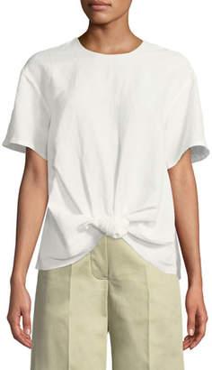 REJINA PYO Amber Short-Sleeve Viscose/Linen Shirt
