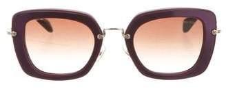 Miu Miu Oversize Square-Shaped Sunglasses w/ Tags