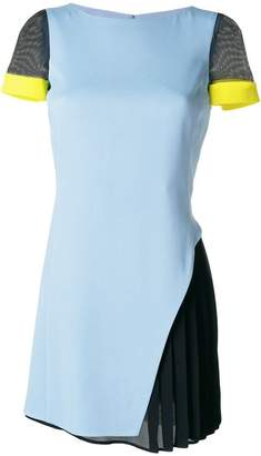 Versace pleated hem dress