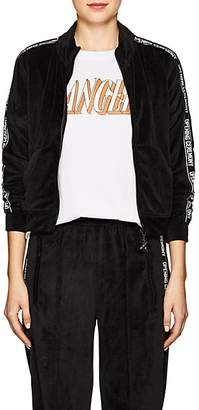 Opening Ceremony Women's Logo-Print Velour Track Jacket - Black