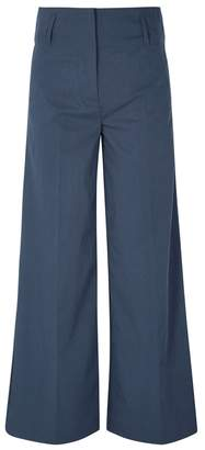 By Malene Birger Kekoa Wide-leg Twill Trousers