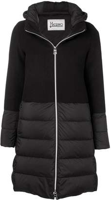 Herno knit upper padded jacket