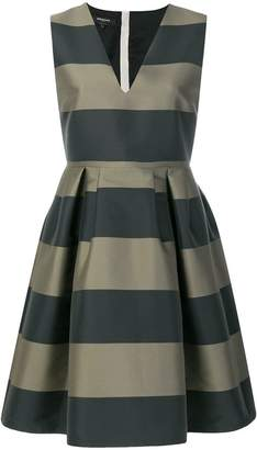 Rochas striped flared dress