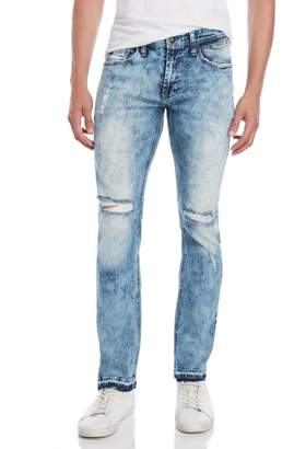 Buffalo David Bitton Acid Wash Distressed Skinny Jeans
