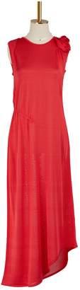 Lanvin Asymmetrical viscose dress
