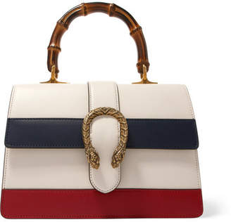 Gucci Dionysus Bamboo Medium Paneled Leather Tote - Cream