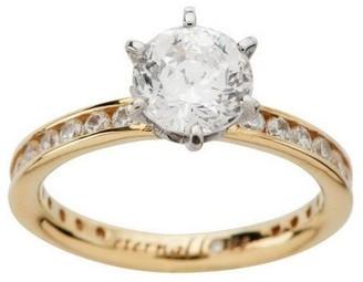 "Diamonique 100-Facet 2.05 cttw ""Eternal Love"" Ring, 14K Gold"