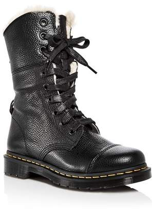Dr. Martens Women's Aimilita Leather Combat Boots