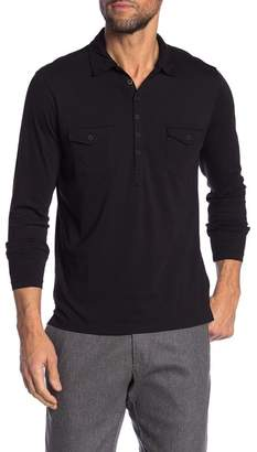 Robert Barakett Boston Long Sleeve Polo Shirt