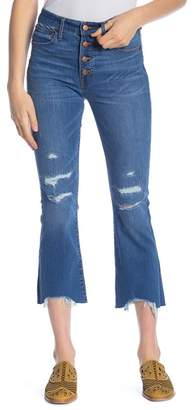 Madewell Cali Demi-Bootcut Distressed Jeans