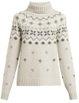Bogner Sinta Roll Neck Cashmere Sweater - Womens - Light Grey