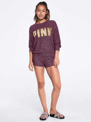PINK Online Exclusive! Cozy Long Sleeve Slouchy Crewneck