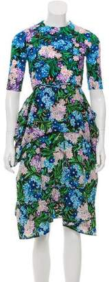 Balenciaga 2018 Floral Dress