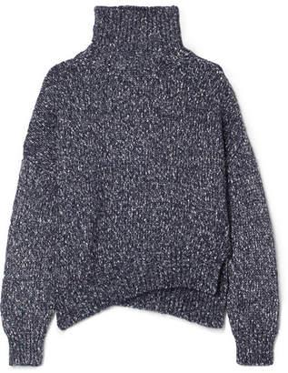 Vanessa Bruno Jason Cotton-blend Turtleneck Sweater - Navy