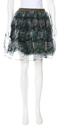 Golden Goose Silk-Blend Printed Skirt