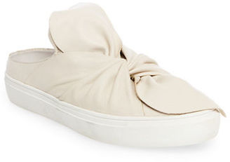 Steven By Steve Madden Cal Leather Knotted Sneaker Mules $109 thestylecure.com