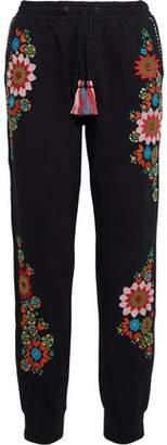 Love Sam Embroidered Cotton-Fleece Track Pants