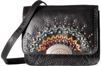 American West Bella Luna Multi-Compartment Crossbody Flap Bag Cross Body Handbags