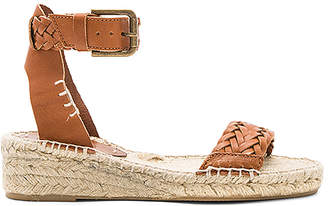 Soludos Woven Demi Wedge Sandal in Cognac $149 thestylecure.com