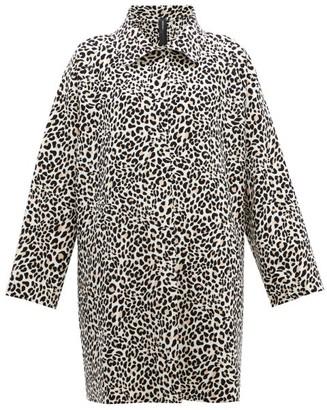 Norma Kamali Leopard Print Single Breasted Coat - Womens - Leopard