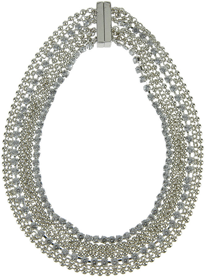 Magnetic Closure Rhinestone Necklace