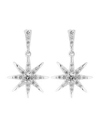 038b1256177fd3 Jon Richard Simply Silver By Simply Silver Starburst Drop Earring