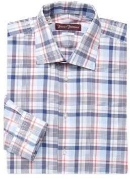 Hickey Freeman Classic-Fit Plaid Dress Shirt