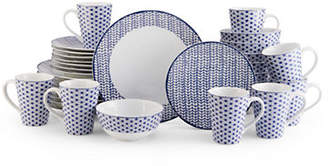 Mikasa Avery Medley Blue 32 Piece Dinnerware Set