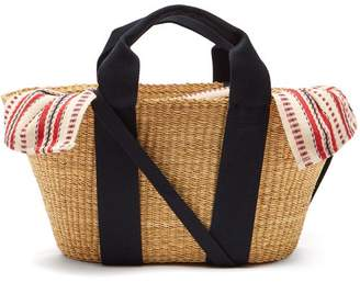 Muun George Woven Straw Basket Bag - Womens - Red Multi