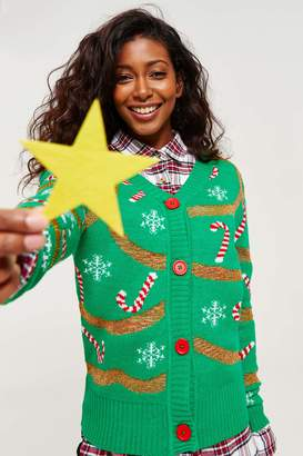 Ardene Ugly X-Mas Tree Cardigan