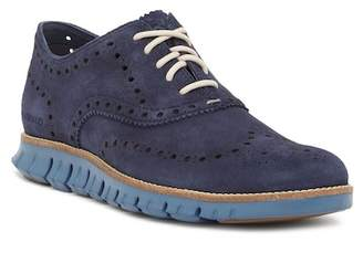 Cole Haan ZeroGrand Wingtip Suede Oxford