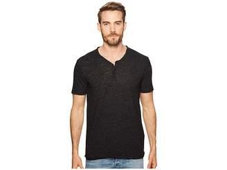 Lucky Brand Raw Edge Y-Neck Henley Shirt Men's Clothing
