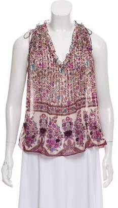 Zadig & Voltaire Printed Sleeveless Top