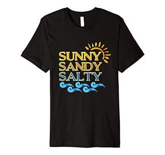 Sunny Sandy Salty-Summer Vacation Ocean Beach T-shirt