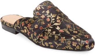 Pure Navy Noles Floral Mule Loafer