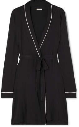 Eberjey Gisele Stretch-modal Jersey Robe - Black