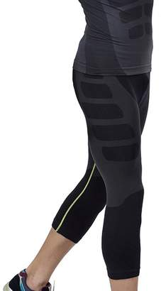 Acme Men's Cool Running Fitness Compression 3/4 Leggings Base Layer Tights Black