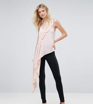 Asos Tall TALL Asymmetric Ruffle Cami with Button Detail