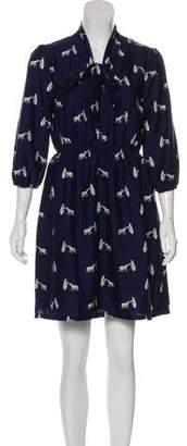 Yumi Eto Long Sleeve A-Line Dress