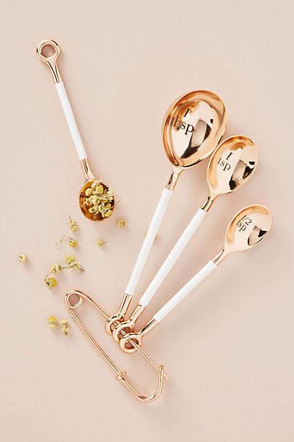 Anthropologie Delaney Measuring Spoons, Set of 4