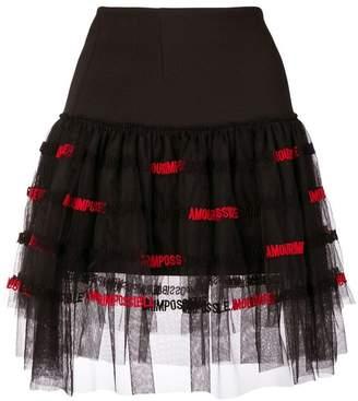 Pinko tulle panel skirt
